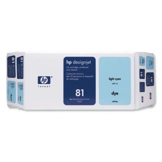 C4954A Печатающая головка и система очистки светло-голубая №81