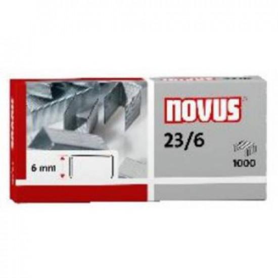 """Скобы 23/6 """"Super"""" для мощных степлеров NOVUS, 1000 шт."""